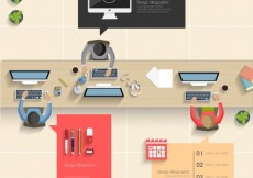 Free vector Office infographic #15552