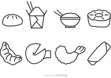 Free vector Outline Chinese Food Vector Icons #17799
