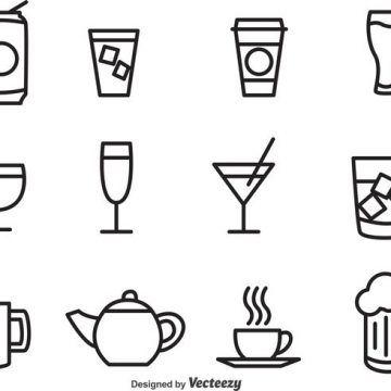 Free vector Outlined Drink Vector Icons #19891