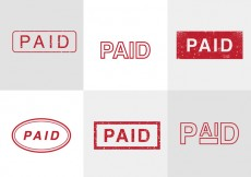 Free vector Paid Vector Stamps #14334