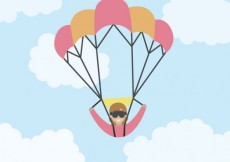 Free vector Paragliding in flat design #19824