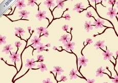 Free vector Pattern with cherry blossoms #19306