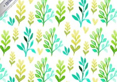 Free vector Pattern with watercolor leaves #13464