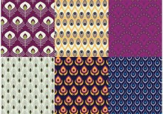 Free vector Peacock Patterns Vector Pack #18194