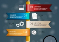 Free vector Pencil infographic #15156