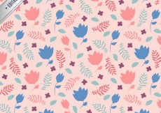 Free vector Pink floral pattern #15837