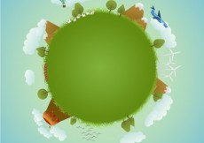 Free vector Planet illustration for earth day #19019
