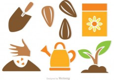 Free vector Plant Growing Vector Icons #19785