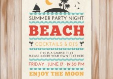 Free vector Poster of summer party #15920