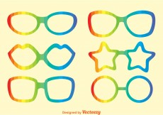 Free vector Rainbow Sunglasses Vectors #12226