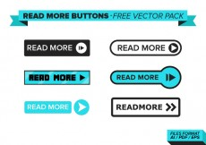 Free vector Read More Buttons Free Vector Pack #16544