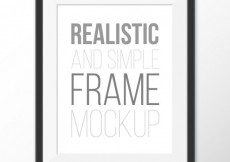 Free vector Realistic and simple frame #15228