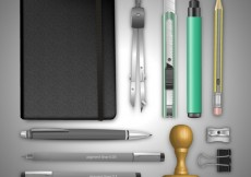 Free vector Realistic office supplies #12335