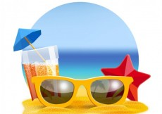 Free vector Realistic summer background #13064