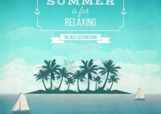Free vector Relaxing summer background #14417