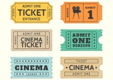 Free vector Retro cinema tickets #14271