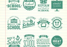 Free vector Retro school badges #12443