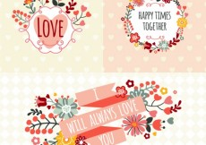 Free vector Romantic banners in spring style #19968