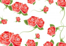 Free vector Roses Background Vector #12882