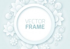 Free vector Round frame with flowers #18382