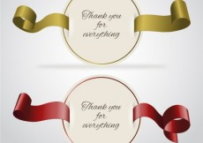 Free vector Round thank you cards #17567