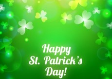 Free vector Saint Patrick background in bokeh style #19492