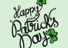 Free vector Saint Patrick card in lettering style #19540