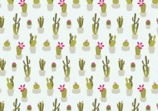 Free vector Seamless Cactus Pattern #15327