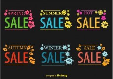 Free vector Seasonal Hot Sale Vector Signs #19385