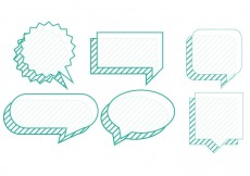 Free vector Set of chat bubbles #14818