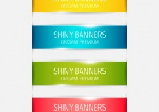 Free vector Shiny banners collection #15368