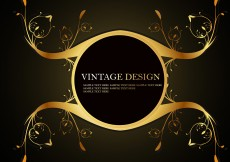 Free vector Shiny Golden Frame with Floral Element Vectors #12714