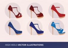 Free vector Shoe Collection Vector Illustration #15720