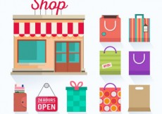 Free vector Shop and shopping bags #18618