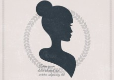 Free vector Silhouette of a beautiful woman #16953