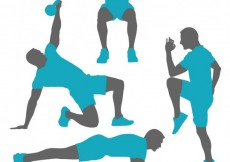 Free vector Silhouettes of gym training poses #12678