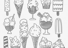 Free vector Sketchy ice creams #12799