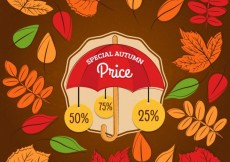Free vector Special autumn price badges #16405