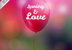 Free vector Spring and love, balloon #14034