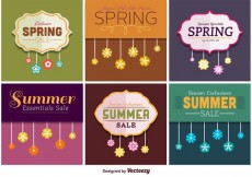 Free vector Spring and Summer Sale Signs #15305
