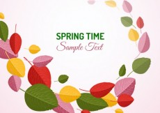 Free vector Spring background with colorful leaves #19696