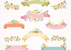 Free vector Spring ribbon banners #17624