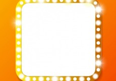 Free vector Square banner with lights #16537