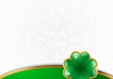Free vector St Patrick background with a bright clover  #19574