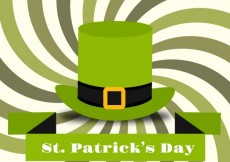 Free vector St Patricks day card with a green hat #20102