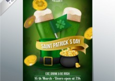 Free vector St Patricks day poster #20208