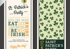 Free vector St Patricks flyer with lettering #19716
