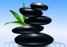 Free vector Stacked spa stones in black color #17958