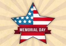 Free vector Star with usa flag for mermorial day #16218