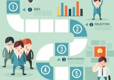 Free vector Successful business infographic #13930